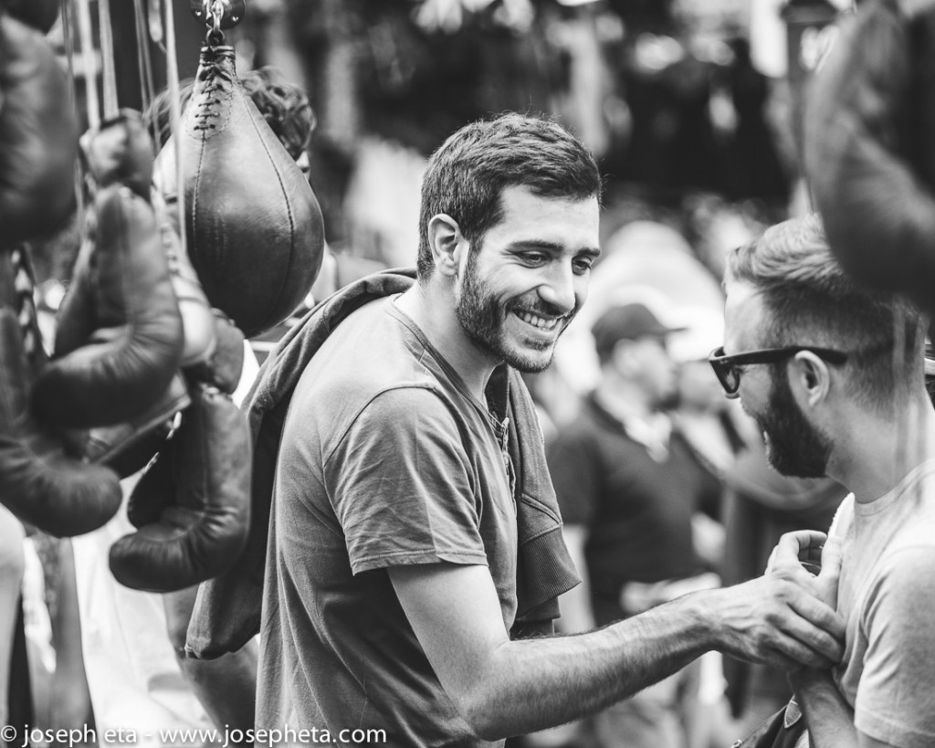 street photography of vintage boxing gloves at portobellow road market in London