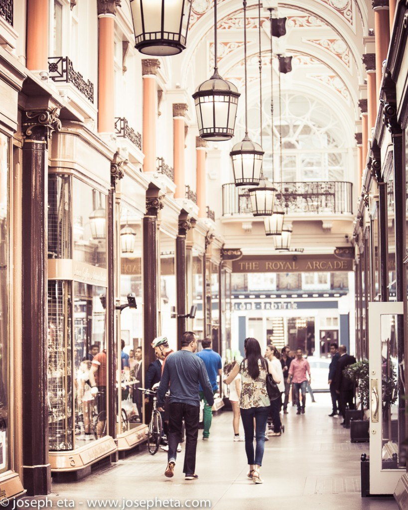 The Royal Arcade in Piccadilly in London
