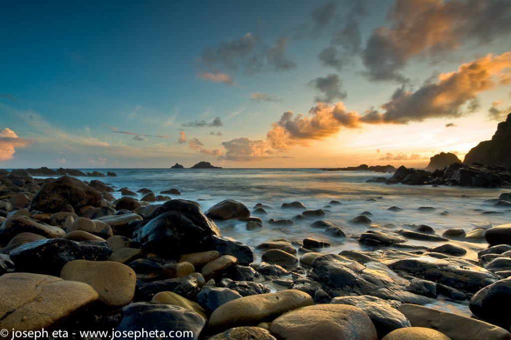 Sunset at Cot Valley (Porth Nansen) in St. Just  near St. Ives in Cornwall.