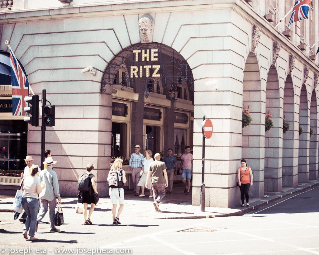 The Ritz hotel on Piccadilly Road in London