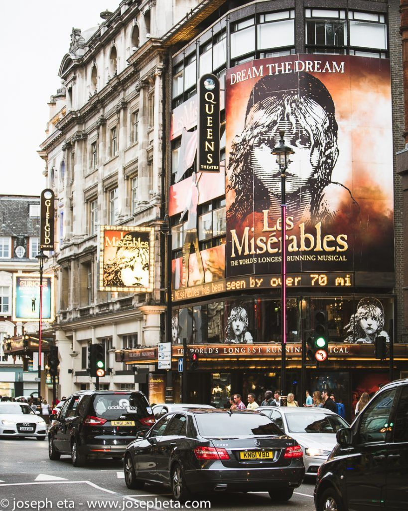 Les Misérables musical on the westend in Piccadilly in London