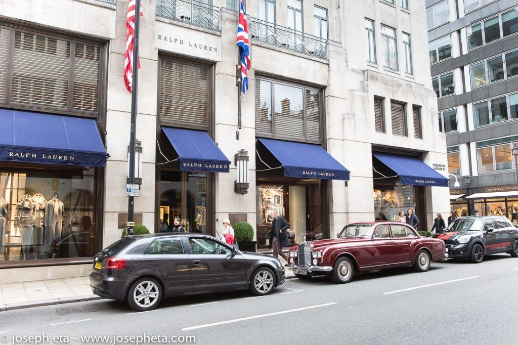 Ralph Lauren shop on Bond Street in London