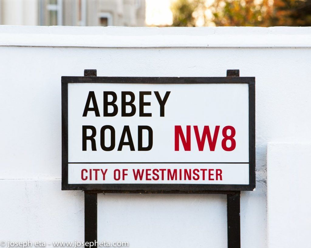 An image of the Abbey Road street sign