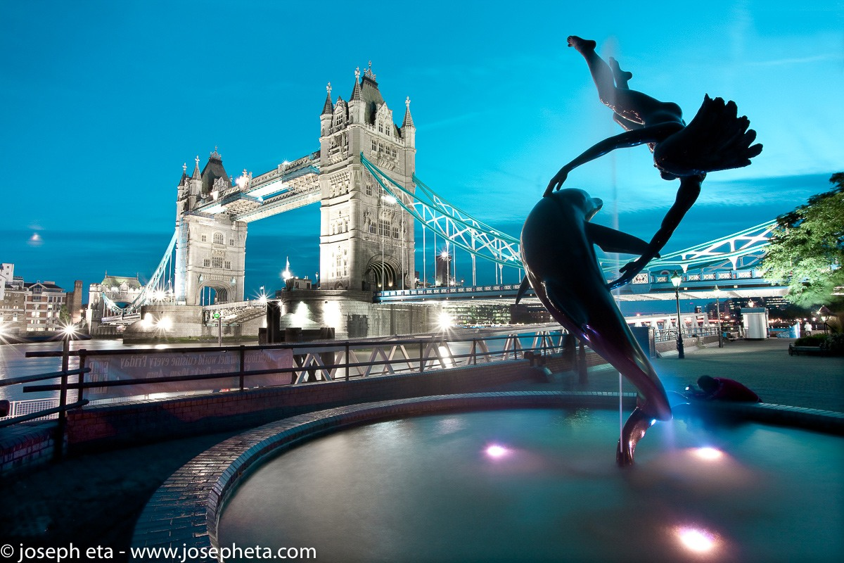 A photograph of tower bridge in London