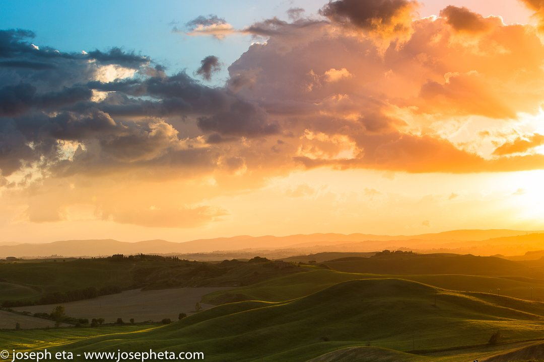 Sunset in Tuscany