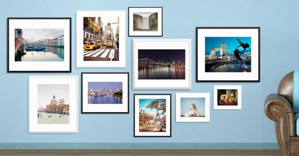 A gallery wall or fine art photography